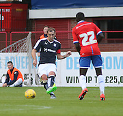 Dundee's Kevin Thomson and Wigan's Francisco Junior - Dundee v Wigan Athletic - pre season friendly at Dens Park<br /> <br />  - &copy; David Young - www.davidyoungphoto.co.uk - email: davidyoungphoto@gmail.com