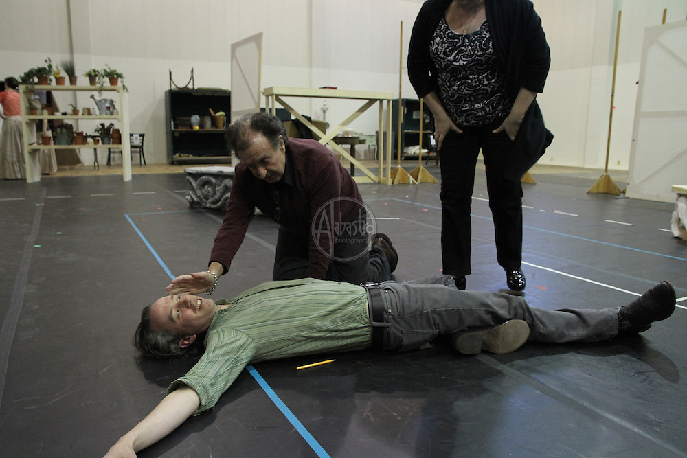 Seattle Opera staging rehearsals for Suor Angelica.