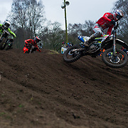 The track at Hawkstone is impressive and despite the usual rainy English eather before the event, the track shaped up nicely during the day with plenty of lines and passing opportunities. Here British rider Mel Pocock fights for position.