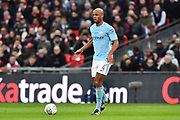 Vincent Kompany (4) of Manchester City during the EFL Cup Final match between Arsenal and Manchester City at Wembley Stadium, London, England on 25 February 2018. Picture by Graham Hunt.