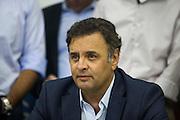 Belo Horizonte_MG, Brasil.<br /> <br /> Reuniao do Senador Aecio Neves com parlamentares na sede do PSDB em Minas Gerais.<br /> <br /> The senator Aecio Neves meeting with parliamentarians in the PSDB headquarters in Minas Gerais.<br /> <br /> Foto: JOAO MARCOS ROSA/NITRO
