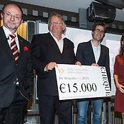 NLD/Amsterdam/201400414 - Uitreiking Erik Hazelhoff Jong Talentprijs en Biografieprijs door prinses Anita Sekreve,Prof. Drs. Victor Halberstadt,  winnaars Rick Honings en Peter van Zonneveld zijn de winnaars van de Erik Hazelhoff Biografieprijs 2014