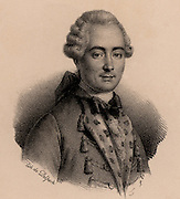 Jean Francois de La Harpe (1739-1803) French poet and critic. Supported French Revolution of 1789 for a while, but from 1794 changed allegiance to church and monarchy. Lithograph c1820