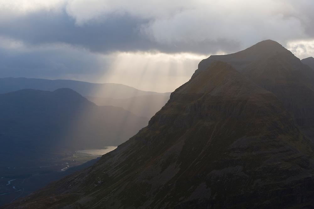 Liatach as clouds clear, Wester Ross, Scotland