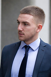 © Licensed to London News Pictures. 06/02/2013. London, UK. Brighton and Hove Albion football player Anton Rodgers, 20, is seen arriving at the Old Bailey  in London today (06/02/13) where he and four other players are facing charges of sexual assault. Photo credit: Matt Cetti-Roberts/LNP