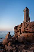 This iconic lighthouse was built with the same pink granite that surrounds it so it blends nicely into the landscape