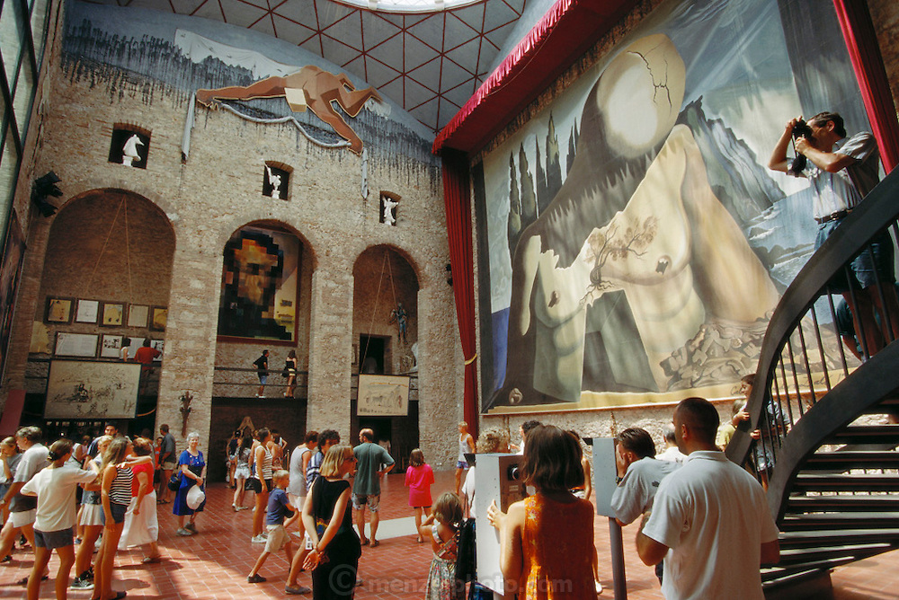 Interior of the Dali Museum in Figuras, Spain.