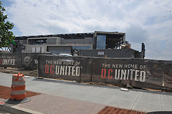 EXCLUSIVE: Wayne Rooney is today bound for Washington for talks with MLS side DC United and is set for a medical tomorrow (Thursday). The former England captain is due to travel to the US with his agent, Paul Stretford, for what will be a first proper look at the MLS outfit and its ground. Next month the club move into the soccer-specific Audi Field (capacity 20,000) located at Buzzard Point, close to the Washington Nationals baseball stadium. Rooney is rumoured to be moving into this beautiful home which is up for sale for 5.7 Million dollars it is in the same neighborhood as Ivanka Trump and former President Barack Obama. DC United want him to commit to a £12.5m deal that runs until the end of the 2020 season. 22 May 2018 Pictured: DC United's new ground. Photo credit: MEGA TheMegaAgency.com +1 888 505 6342