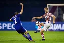 Ivan Strinic of Croatia during the football match between National teams of Croatia and Greece in First leg of Playoff Round of European Qualifiers for the FIFA World Cup Russia 2018, on November 9, 2017 in Stadion Maksimir, Zagreb, Croatia. Photo by Ziga Zupan / Sportida