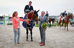 Van Der Schans Patrick (NED) - Extase<br /> Winner of the 4 jarige Springpaarden<br /> KWPN Paardendagen Ermelo 2013<br /> © Dirk Caremans