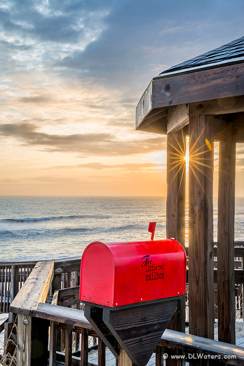 The Little Red Mailbox at the hope beach access Kill Devil Hills on the Outer Banks of NC. The Little Red Mailbox has a journal where you can share your hopes and dreams.