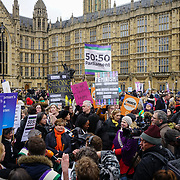 Women's Day march in London, UK