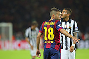 Barcelona Jordi Alba during the Champions League Final between Juventus FC and FC Barcelona at the Olympiastadion, Berlin, Germany on 6 June 2015. Photo by Phil Duncan.