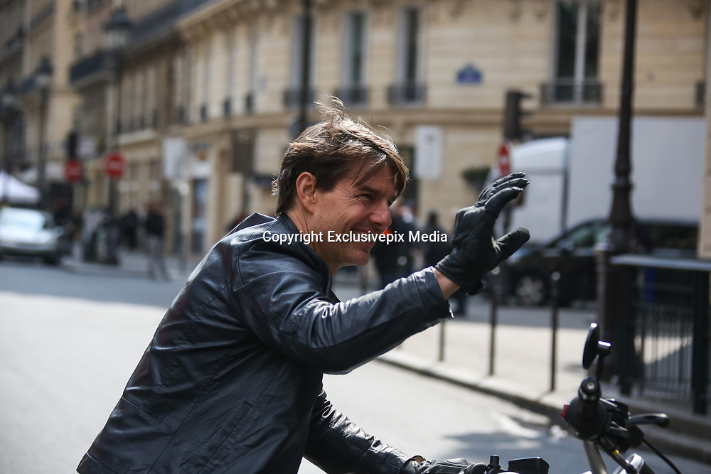 Tom Cruise zips through the streets of Paris on a motorbike as he shoots high-octane scenes for Mission: Impossible 6<br /> <br /> Over the past several months, he's been busy shooting action-packed scenes for the sixth instalment in his Mission: Impossible series at locations across Europe.<br /> <br /> And on Thursday, Tom Cruise pressed on on with production in his most recent base of Paris, mounting a BMW motorbike as he sped through the French capital's streets.<br /> <br /> Wearing an all-black ensemble that included a leather jacket and matching gloves, the 53-year-old Hollywood actor flashed his signature toothy grin as he rode along.<br /> <br /> Apparently in good spirits, he smiled and waved at curious onlookers before and after he mounted the two-wheeler in front of rolling cameras.<br /> <br /> The screen star's latest round of shooting came after he and co-star Vanessa Kirby were filmed in passionate scenes for the upcoming action flick on Tuesday.<br /> <br /> Sharing a kiss, Hollywood veteran Tom and The Crown star Vanessa, 26, snuggled up close, sharing jokes between takes as they collapsed in fits of giggles.<br /> <br /> The screen star's latest round of shooting came after he and co-star Vanessa Kirby were filmed in passionate scenes for the upcoming action flick on Tuesday.<br /> <br /> Sharing a kiss, Hollywood veteran Tom and The Crown star Vanessa, 26, snuggled up close, sharing jokes between takes as they collapsed in fits of giggles.<br /> <br /> The screen star's latest round of shooting came after he and co-star Vanessa Kirby were filmed in passionate scenes for the upcoming action flick on Tuesday.<br /> <br /> Sharing a kiss, Hollywood veteran Tom and The Crown star Vanessa, 26, snuggled up close, sharing jokes between takes as they collapsed in fits of giggles.<br /> The screen star's latest round of shooting came after he and co-star Vanessa Kirby were filmed in passionate scenes for the upcoming action flick on Tuesday.<br /> <br /> 