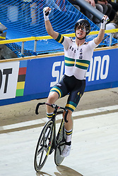 March 2, 2018 - Apeldoorn, Netherlands - Cameron Meyer of Australia celebrates during the men's points race final during the UCI Track Cycling World Championships in Apeldoorn on March 2, 2018. Photo by Foto Olimpik/NurPhoto) (Credit Image: © Foto Olimpik/NurPhoto via ZUMA Press)