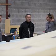 Chantier du class 40 de Ian Lipinski - plan raison - MAX 40 - chantier JPS La Tinité - Crédit Mutuel