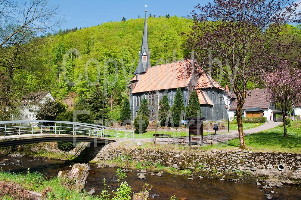 Kirche am Fluss, Sieber, Harz, Niedersachsen, Deutschland | church at river, Sieber, Harz, Lower Saxony, Lower Saxony, Germany