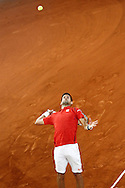 Novak Djokovic during the Madrid Open at Manzanares Park Tennis Centre, Madrid<br /> Picture by EXPA Pictures/Focus Images Ltd 07814482222<br /> 07/05/2016<br /> ***UK & IRELAND ONLY***<br /> EXPA-ESP-160507-0005.jpg