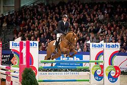 de Boer Lennard, (NED), Global Express<br /> Springen Klasse L<br /> KWPN Hengstenkeuring - 's Hertogenbosch 2016<br /> © Hippo Foto - Dirk Caremans<br /> 04/02/16