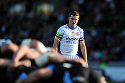 George Ford of Bath Rugby watches a scrum - Photo mandatory by-line: Patrick Khachfe/JMP - Mobile: 07966 386802 18/10/2014 - SPORT - RUGBY UNION - Glasgow - Scotstoun Stadium - Glasgow Warriors v Bath Rugby - European Rugby Champions Cup