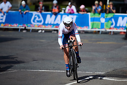 Elynor Backstedt (GBR) at UCI Road World Championships 2019 Junior Women's TT a 13.7 km individual time trial in Harrogate, United Kingdom on September 23, 2019. Photo by Sean Robinson/velofocus.com