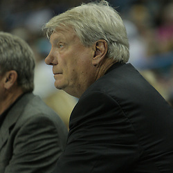 05 October 2008:  Golden State Warriors coach Don Nelson looks on from the bench during a NBA preseason game between the Golden State Warriors and the New Orleans Hornets at at the New Orleans Arena in New Orleans, LA..