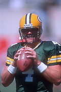 Green Bay Packers quarterback Brett Favre (4) during an NFL football game against the Arizona Cardinals, Sunday, Sept. 24, 2000, in Tempe, Ariz. The Packers defeated the Cardinals 29-3.