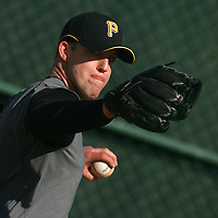 BRADENTON, FL -- January 13, 2010 -- Pittsburg Pirates pitcher Paul Maholm pitches during workouts at the Pirate City Spring Training Headquarters in Bradenton, Fla., on Wednesday, January 13, 2010.  (Chip Litherland for the Chip Litherland for the Pittsburgh Tribune-Review)
