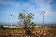 Windfarm in Ninh Thuan Province, Vietnam, Southeast Asia