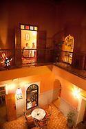 Morocco, Marrakech. DAr mima restaurant , içn a riad, in the old city medina  Marrakech /  restaurant Dar Mima dans un riad, la medina de la vieille ville  Marrakech  Maroc