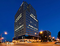 View of Standard Life Building at 1600 René Levesque West, Ville Marie District, Montreal, Quebec, Canada