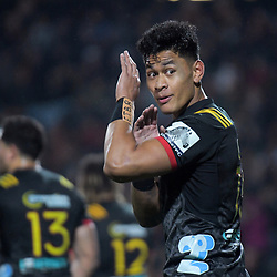 Toni Pulu (Chiefs) during the Super Rugby match between the Chiefs and Hurricanes at FMG Stadium in Hamilton, New Zealand on Friday, 13 July 2018. Photo: Dave Lintott / lintottphoto.co.nz