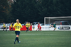 General View as Jodie Brett of Bristol City Women scores a goal - Rogan Thomson/JMP - 06/11/2016 - FOOTBALL - The Northcourt Stadium - Abingdon-on-Thames, England - Oxford United Women v Bristol City Women - FA Women's Super League 2.