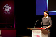 Princess Mary delivers a speech at the Third World Conference of Women's Shelters in the World Forum