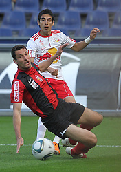 09.04.2011, Red Bull Arena, Salzburg, AUT, 1. FBL,  Red Bull Salzburg vs LASK Linz, im Bild Text Lukas Petr Lask im Zweikampf mit Gonzalo Zarate, (FC Red Bull Salzburg, Sturm, #11)// during the Austrian Bundesliga Match, Red Bull Salzburg vs LASK Linz, at the Red Bull Arena, Salzburg, 2011/04/09, EXPA Pictures © 2011, PhotoCredit: EXPA/ D. Scharinger