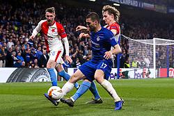 Mateo Kovacic of Chelsea takes on Alex Kral of Slavia Prague - Mandatory by-line: Robbie Stephenson/JMP - 18/04/2019 - FOOTBALL - Stamford Bridge - London, England - Chelsea v Slavia Prague - UEFA Europa League Quarter Final 2nd Leg