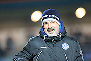 Keith Hill during the Sky Bet League 1 match between Rochdale and Crewe Alexandra at Spotland, Rochdale, England on 16 February 2016. Photo by Daniel Youngs.