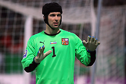 Goalkeeper of Czech republic Petr Cech at  the 8th day qualification game of 2010 FIFA WORLD CUP SOUTH AFRICA in Group 3 between Slovenia and Czech Republic at Stadion Ljudski vrt, on March 28, 2008, in Maribor, Slovenia. Slovenia vs Czech Republic 0 : 0. (Photo by Vid Ponikvar / Sportida)
