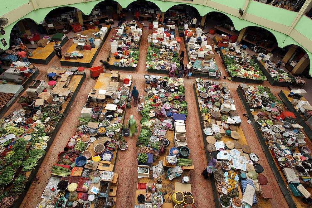 Central market in Kota Bharu.
