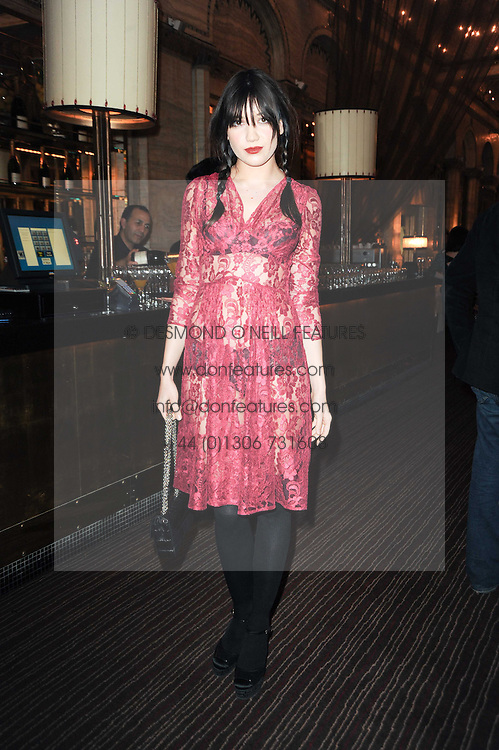 DAISY LOWE at a party to celebrate the 135th anniversary of The Criterion restaurant, Piccadilly, London held on 2nd February 2010.