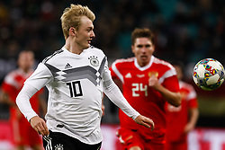 November 16, 2018 - Leipzig, Germany - Julian Brandt (L) of Germany in action during the international friendly match between Germany and Russia on November 15, 2018 at Red Bull Arena in Leipzig, Germany. (Credit Image: © Mike Kireev/NurPhoto via ZUMA Press)