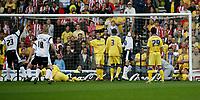 Photo: Steve Bond.<br />Derby County v Southampton. Coca Cola Championship. Play Off Semi Final, 2nd Leg. 15/05/2007. Darren Moore ((23) turns away after scoring
