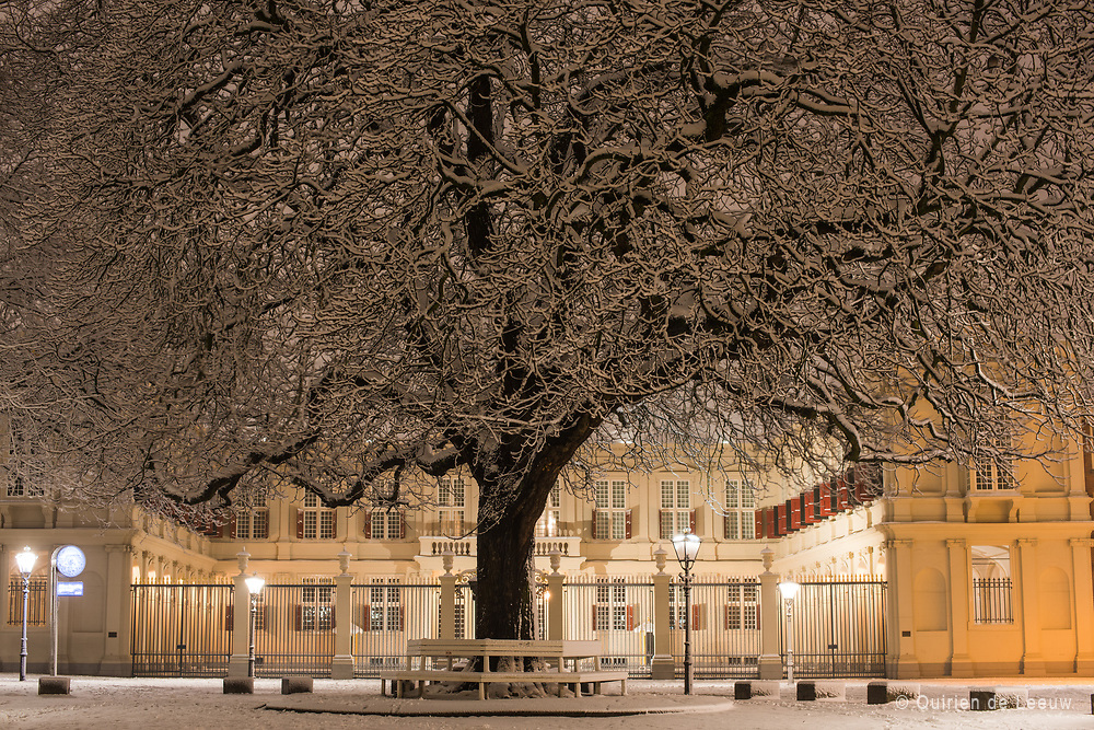 The palace Noordeinde in winter season, The Hague city.