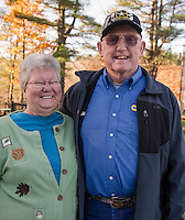 "Carol and Richard Davis  Meredith, NH.  Richard said ""Don't know if I'm excited about either candidate.  Saving grace is that with Trump it won't be status quo and maybe some good will come.  With Clinton I have no faith in her""  Voted for Donald Trump.  (Karen Bobotas/for the Laconia Daily Sun)"