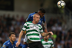 September 8, 2017 - Santa Maria Da Feira, Aveiro, Portugal - Sporting's defender Mathieu (L) vies with Feirense's Brazilian defender Flavio Ramos (R) during the Premier League 2017/18 match between CD Feirense and Sporting CP, at Marcolino de Castro Stadium in Santa Maria da Feira on September 8, 2017. (Credit Image: © Dpi/NurPhoto via ZUMA Press)