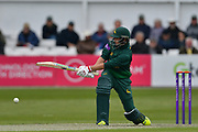 Billy Root sweeps during the Royal London 1 Day Cup match between Worcestershire County Cricket Club and Nottinghamshire County Cricket Club at New Road, Worcester, United Kingdom on 27 April 2017. Photo by Simon Trafford.