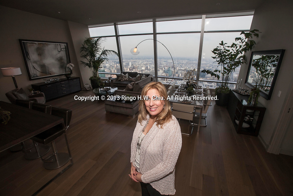 Kimberly Lucero, vice president of sales and marketing at AEG, at the Ritz-Carlton building in downtown L.A. (Photo by Ringo Chiu/PHOTOFORMULA.com)