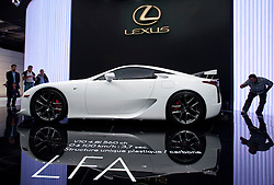 Lexus LFA car at Paris Motor Show 2010