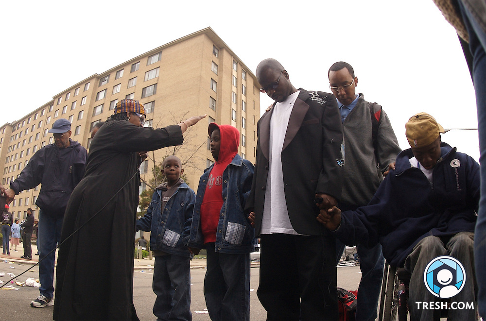 The Shaw neighborhood anti-violence march and rally Saturday, March 31, 2007.