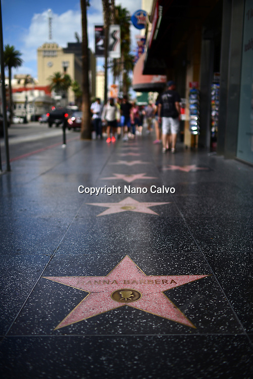 Hanna Barbera star on the Hollywood Walk of Fame, Los Angeles, California.